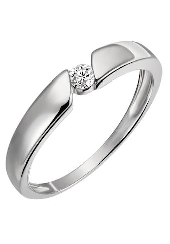 Firetti Diamantring »Solitär, Spannfassung, ca. 3,2 mm breit, Glanz, rhodiniert, massiv«, mit Brillant kaufen