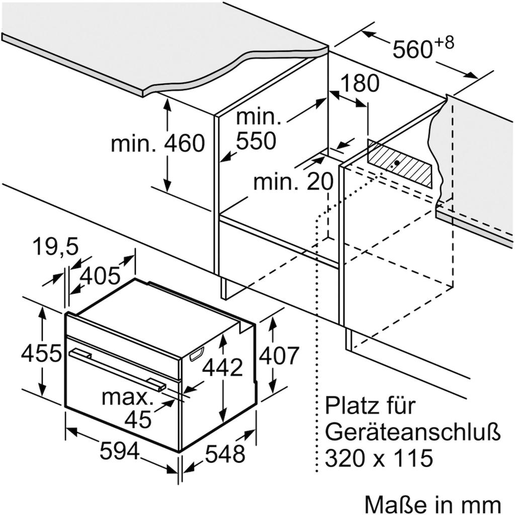 BOSCH Einbau-Dampfgarer »CDG634AB0«, mit touchControl