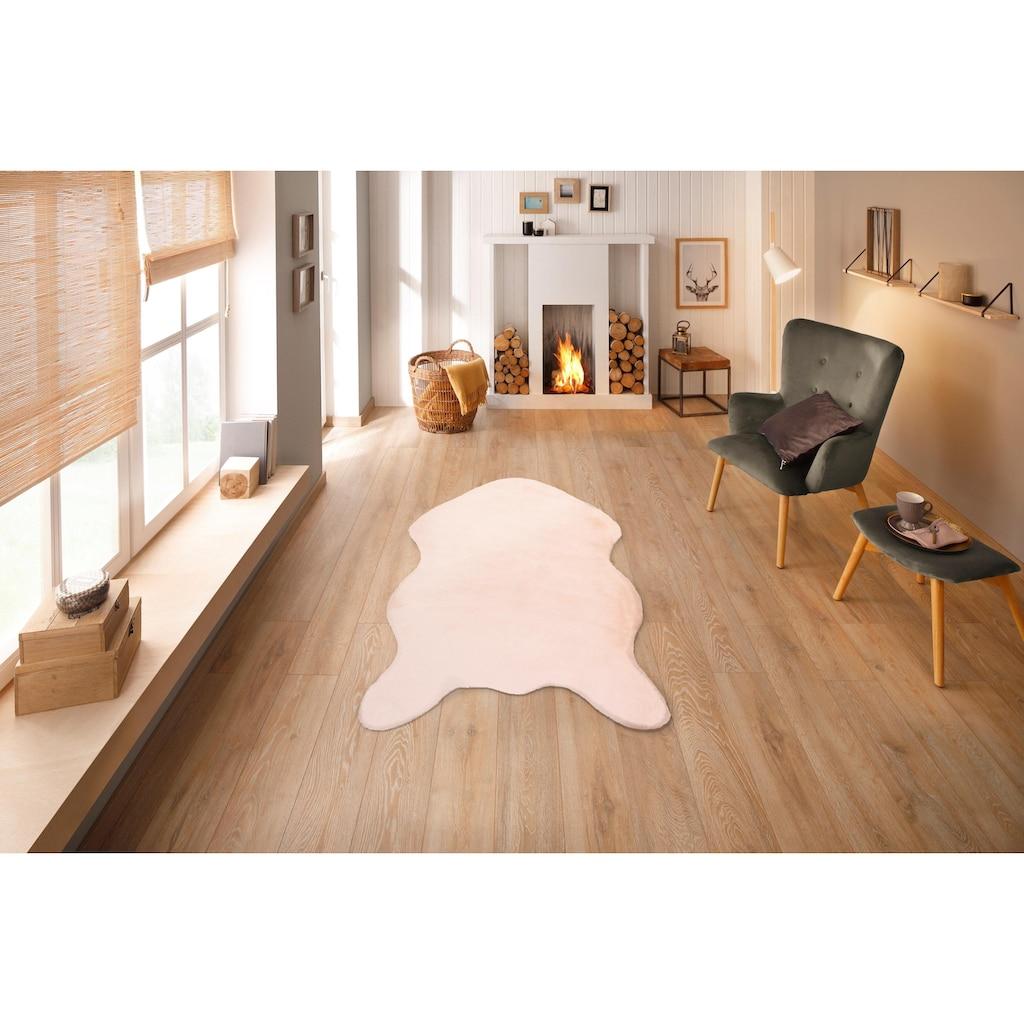 andas Fellteppich »Mombert«, rechteckig, 30 mm Höhe, Kaninchenfell-Haptik, Kunstfell, sehr weicher Flor, Wohnzimmer