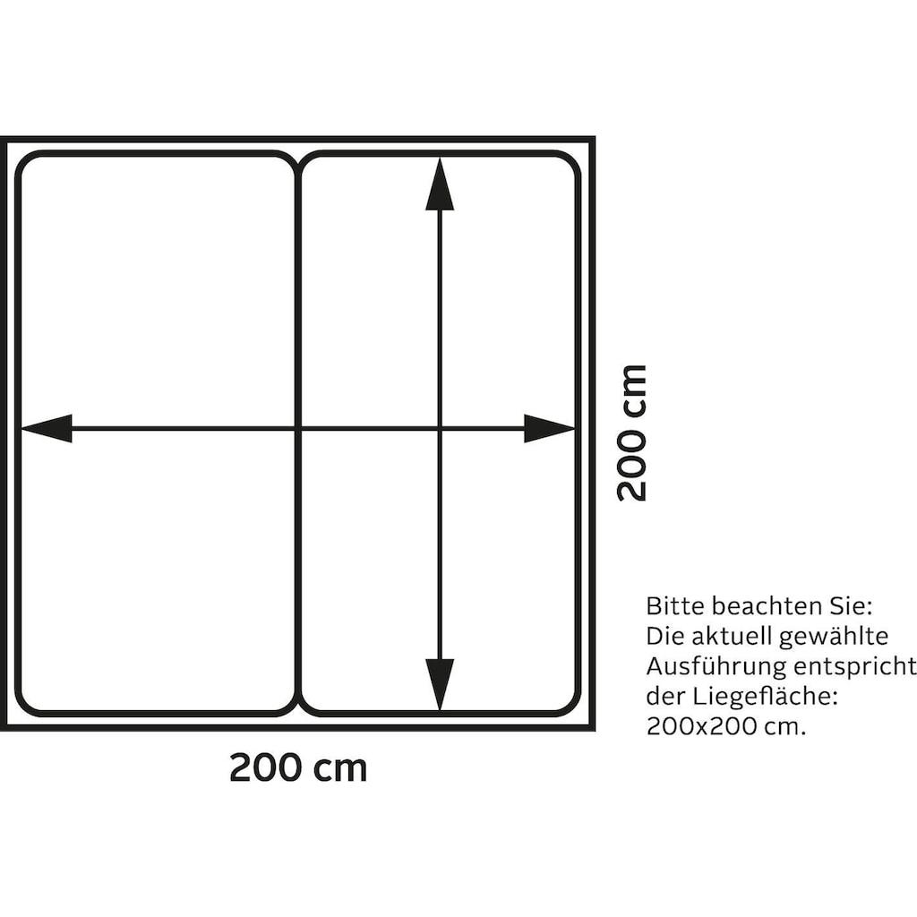 Schlaraffia Boxspringbett »Saga«, mit GELTEX® Topper und 7-Zonen-Tonnentaschen-Federkernmatratze, Härtegrad H2, H3, H4, Fuß in Schwebeoptik, Kopfteilhöhe 133 cm