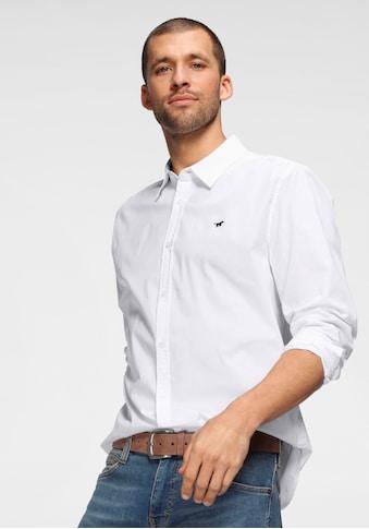 MUSTANG Langarmhemd, mit Logostickerei kaufen