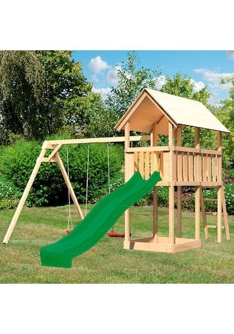 ABUKI Spielturm »Winnie«, BxTxH: 347x264x291 cm, mit Schaukel, Sandkasten, Rutsche kaufen