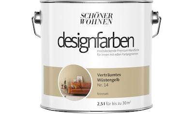 SCHÖNER WOHNEN-Kollektion Wand- und Deckenfarbe »Designfarben«, Verträumtes Wüstengelb... kaufen