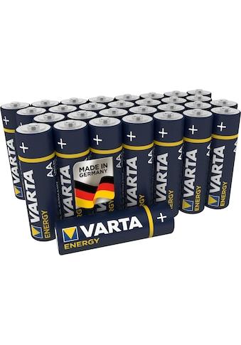 VARTA Batterie »Energy AA Mignon LR6 30er Pack Alkaline Batterien - Made in Germany -... kaufen
