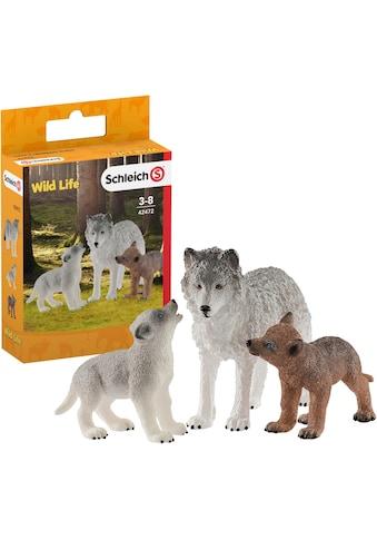 Schleich® Spielfigur »Wild Life, Wolfsmutter mit Welpen (42472)«, (Set) kaufen