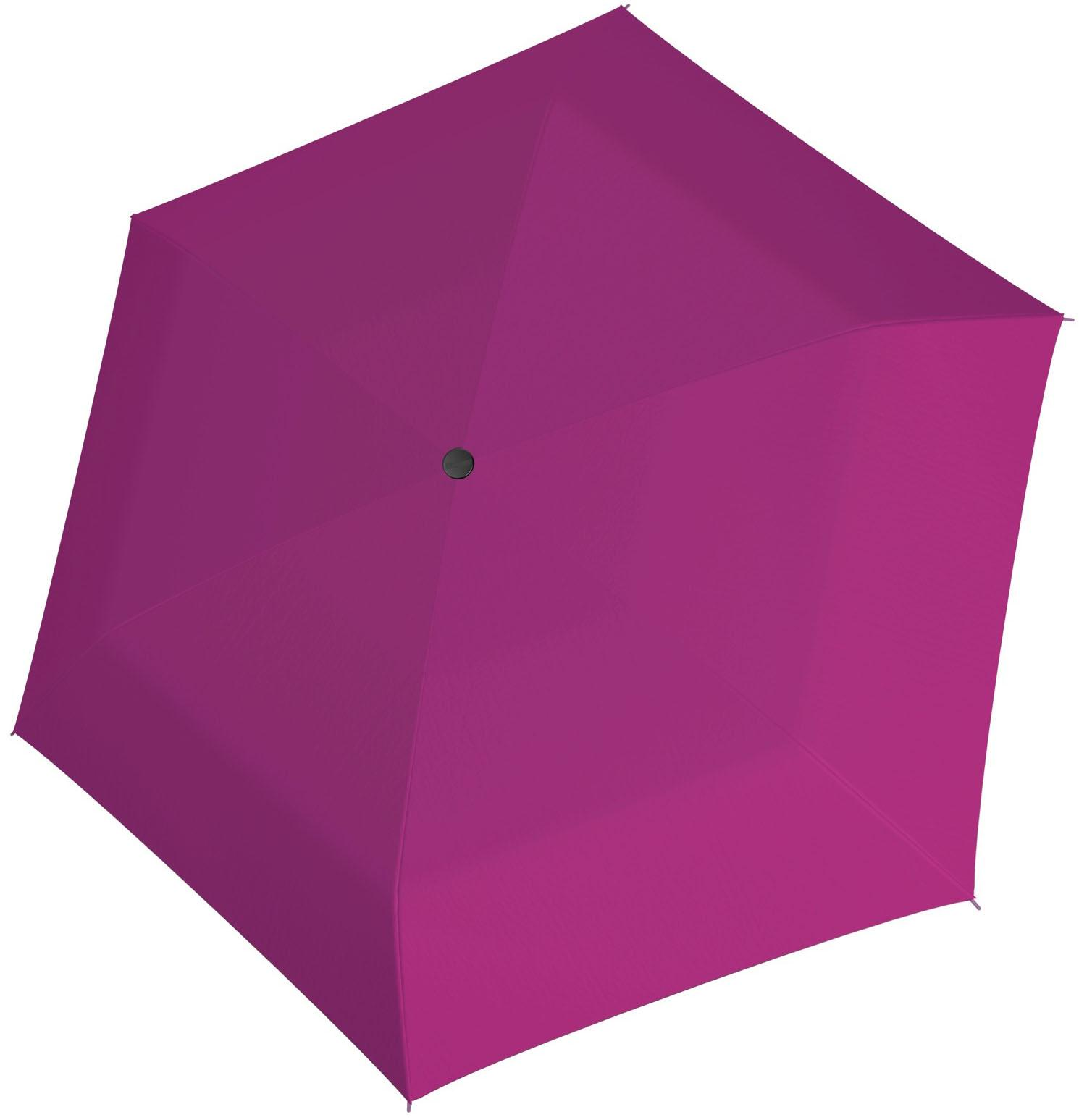 doppler®, Taschenregenschirm Fiber Havanna uni, Pink | Accessoires > Regenschirme > Sonstige Regenschirme | Rosa | DOPPLER