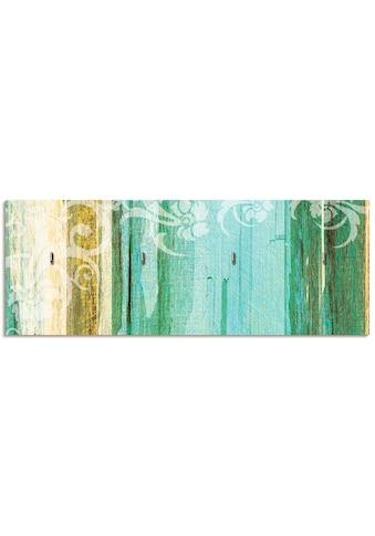 Artland Schlüsselbrett »Blumenornamente im modernen Stil«, aus Holz mit 4... kaufen