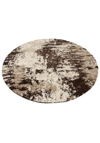 my home Teppich »Hannes«, rund, 30 mm Höhe, Vintage Design, Wohnzimmer kaufen