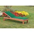 MERXX Gartenliege »Aktionsliege mit Auflage«, mit Auflagen, verstellbare Rückenlehne, Eukalyptusholz