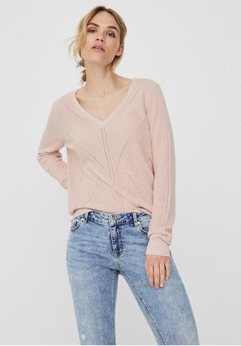 Vero Moda V-Ausschnitt-Pullover »VMNEWLEXSUN« kaufen