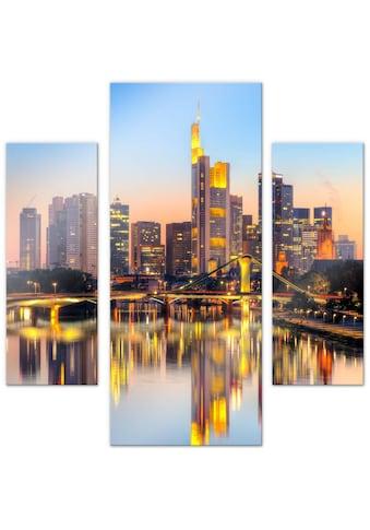 Wall-Art Mehrteilige Bilder »Frankfurter Lichter (3-teilig)«, (Set, 3 St.) kaufen
