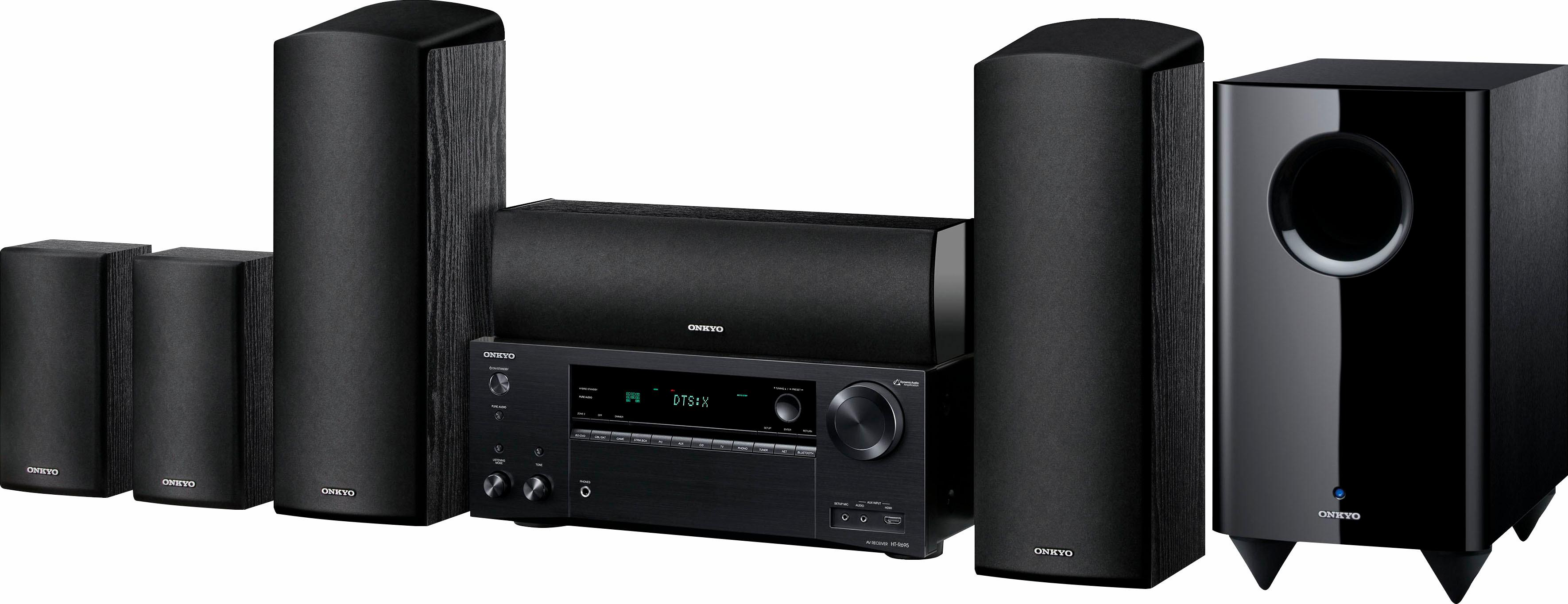 Onkyo »Onkyo HT-S7805-B Heimkinosystem (Hi-Res, Multiroom, Bluetooth, Deezer, Spotify)« Heimkinosystem (Bluetooth, 3D-fähig, Hi-Res Audio)
