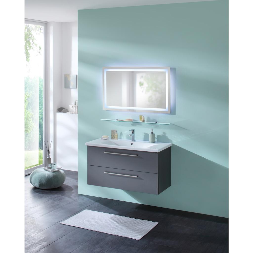 WELLTIME Badspiegel »Trento«, LED-Spiegel, 100 x 60 cm