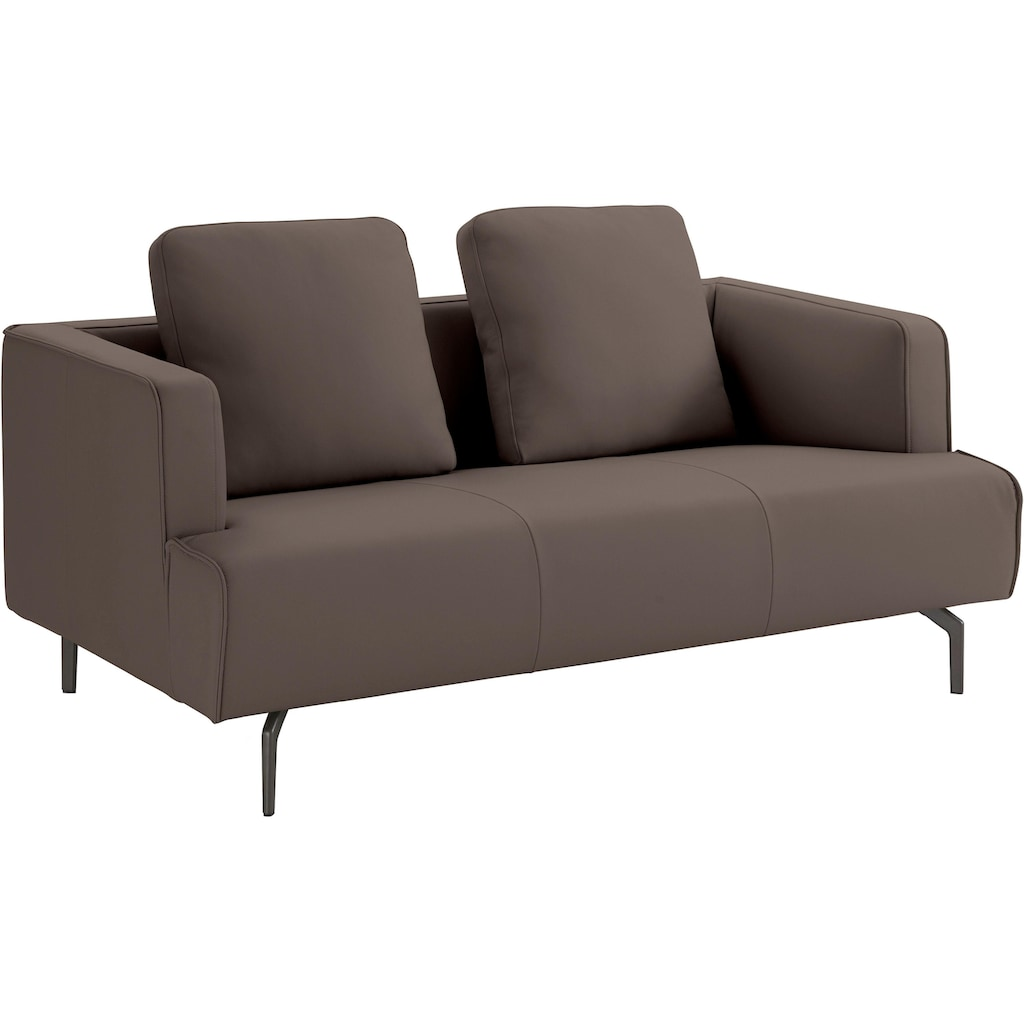 hülsta sofa 2-Sitzer »hs.440«, wahlweise in Stoff oder Leder, Gussfüße umbragrau