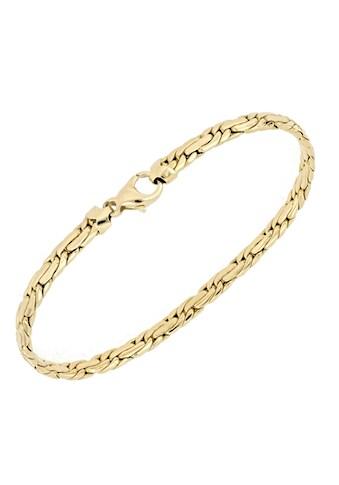 Firetti Goldarmband »Doppelankerkettengliederung, 7 mm, glänzend, oval, halbmassiv« kaufen