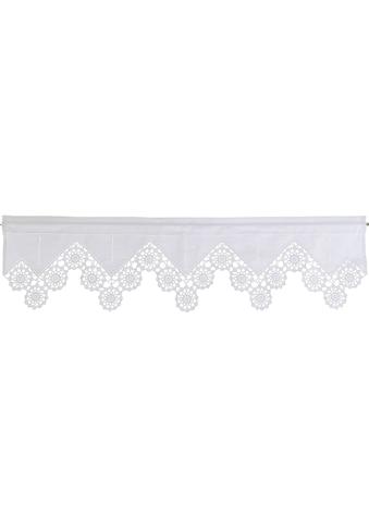 HOSSNER - ART OF HOME DECO Querbehang »Dufour«, handgehäkelte Spitze, weiß, Baumwolle kaufen