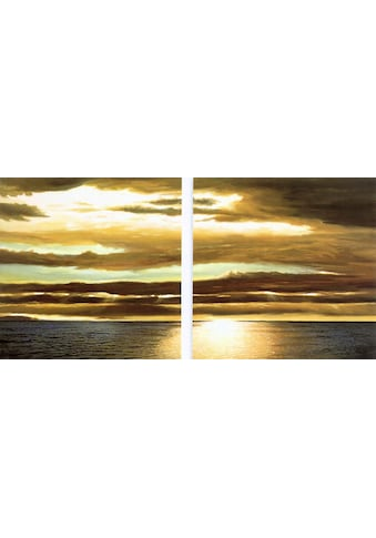 Home affaire Kunstdruck »DAN WERNER, Reflection on the sea I,II«, (Set, 2 St.) kaufen