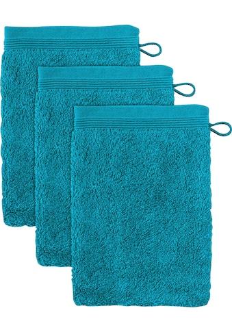 Möve Waschhandschuh »Superwuschel«, (3 tlg.), in kräftigen Farben kaufen