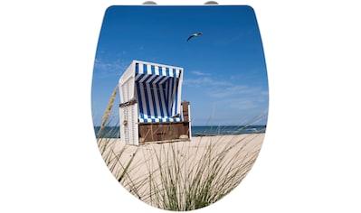 Wenko WC - Sitz »Strandkorb«, Mit Absenkautomatik kaufen