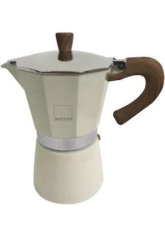 gnali & zani Espressokocher »Venezia«, Induktion, cremefarben kaufen