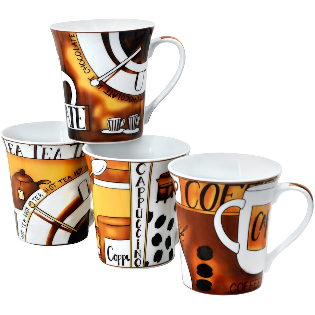 Retsch Arzberg Becher »Kaffee«, (Set, 4 tlg.), 4-teilig