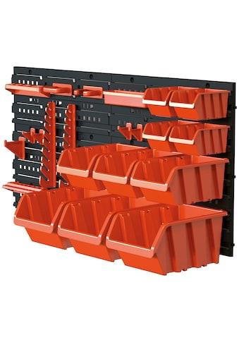 KREHER Werkzeug - Lochwand inkl. 19 - tlg. Werkzeugbefestigungsset kaufen
