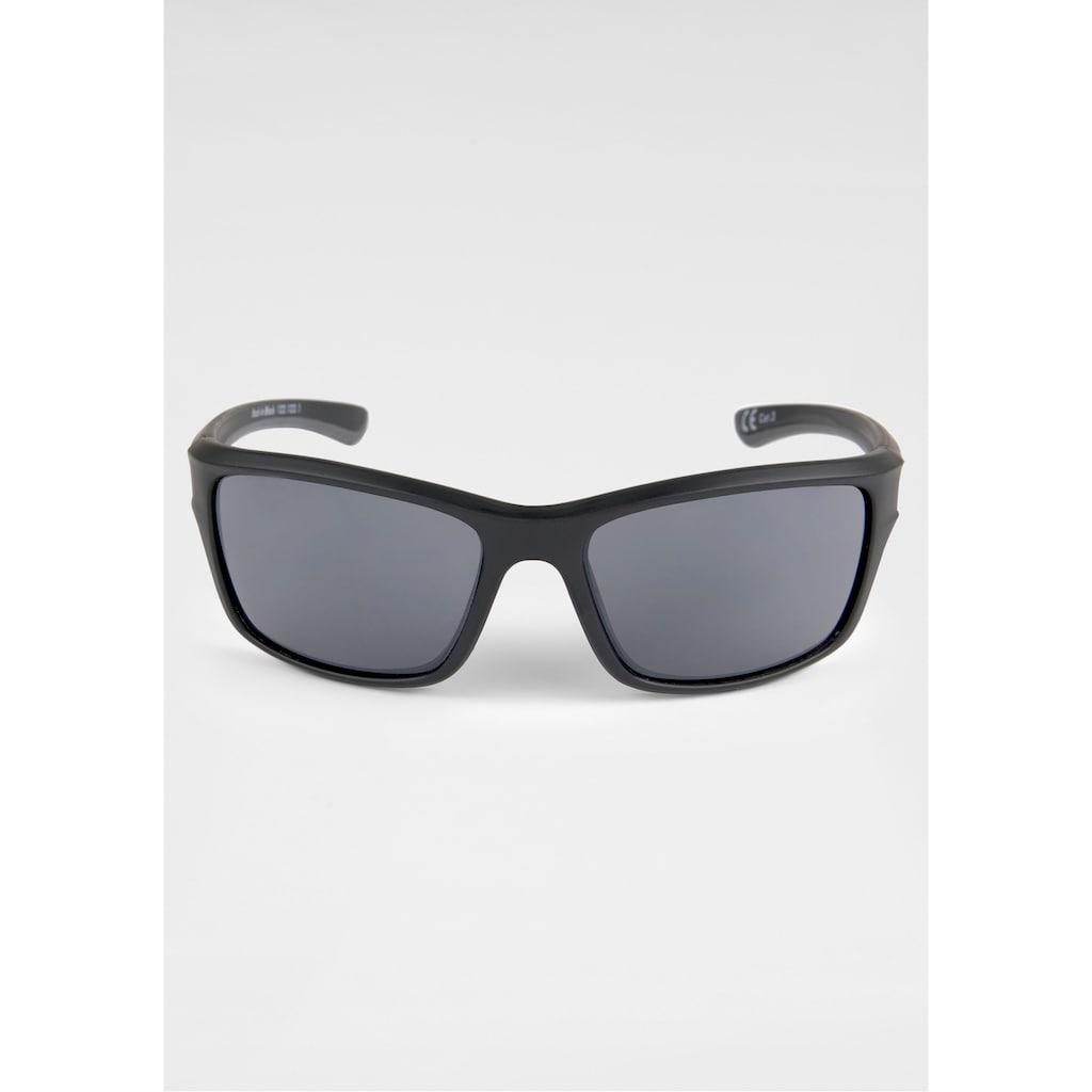 BACK IN BLACK Eyewear Sonnenbrille, leicht gebogene Form