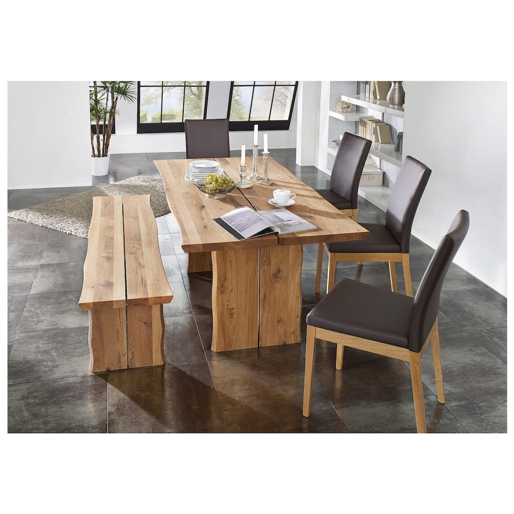 SCHÖSSWENDER Esstisch »Oviedo«, aus FSC®-zertifiziertes Massivholz mit natürlich gewachsener Baumkante