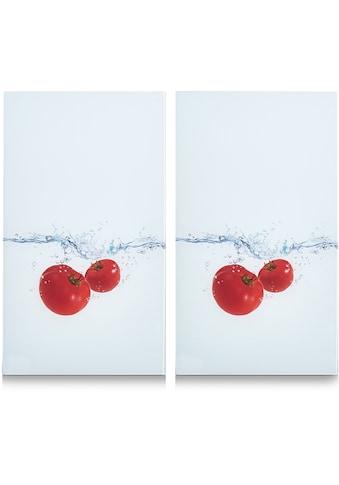 Zeller Present Schneide- und Abdeckplatte »Tomato Splash«, (Set, 2 tlg.), 6... kaufen