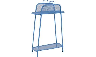 Garden Pleasure Regal »Shelfo«, Metall, 65,5x27x105,5 cm, blau kaufen
