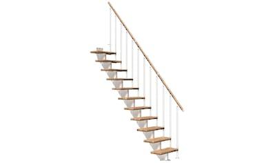 DOLLE Mittelholmtreppe »Frankfurt Eiche 65«, bis 301 cm, Metallgeländer, versch. Ausführungen kaufen