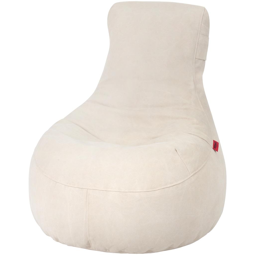 OUTBAG Sitzsack »Slope Canvas«, wetterfest, für den Außenbereich, BxH: 85x90 cm