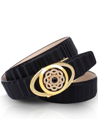 Anthoni Crown Ledergürtel, mit goldfarbener Automatik-Schließe und drehender... kaufen