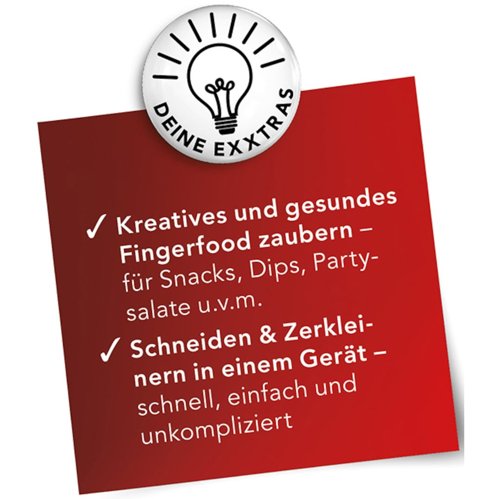 MAXXMEE Zerkleinerer »Chop n Slice Plus«, 12-teilig