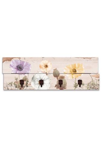 Artland Garderobenpaneel »Mohnblumen auf hölzernem Untergrund« kaufen