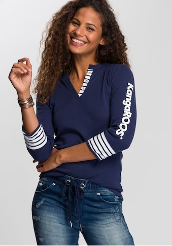 KangaROOS 3/4-Arm-Shirt, mit großem Markenschriftzug am Arm kaufen