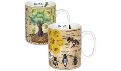 Könitz Becher »Wissensbecher Bäume&Biene«, (Set, 2 tlg.), Porzellan, 460 ml kaufen