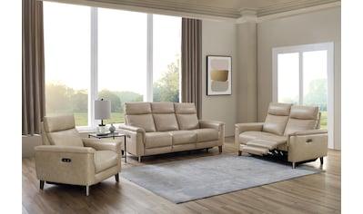 DELAVITA Polstergarnitur »Rhone«, (Set, 3er-Set), 3er-Set bestehend aus einem Sessel, einem 2-Sitzer und einem 3-Sitzer. USB-Anschlüsse, elktrische Relaxfunktion kaufen