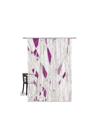 Schiebegardine, »Labyrinth«, emotion textiles, Klettband 3 Stück kaufen