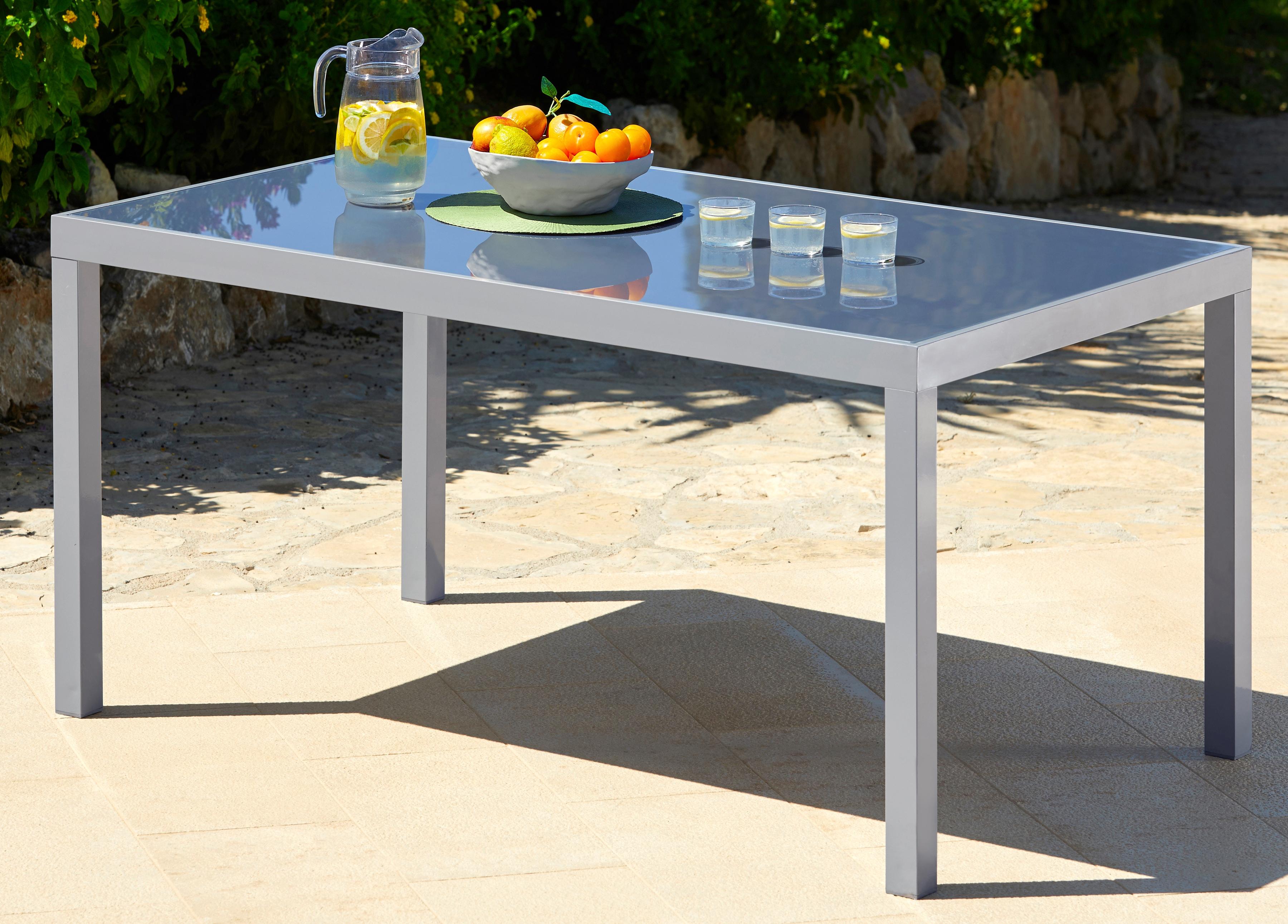 Merxx Gartentisch Taviano Aluminium 150x90 Cm Silber Online