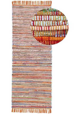 carpetfine Läufer »Kelim Chindi«, rechteckig, 6 mm Höhe, Wolle und Fransen kaufen