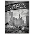 Artland Glasbild »Chicago Riverwalk schwarz/weiß«, Amerika, (1 St.)