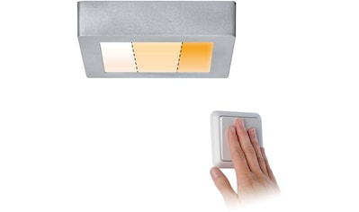 Paulmann LED Deckenleuchte »Carpo LED Panel Warmdimmfunktion eckig 10,2W Chrom matt Metall«, Warmweiß-Extra-Warmweiß, LED Deckenlampe kaufen