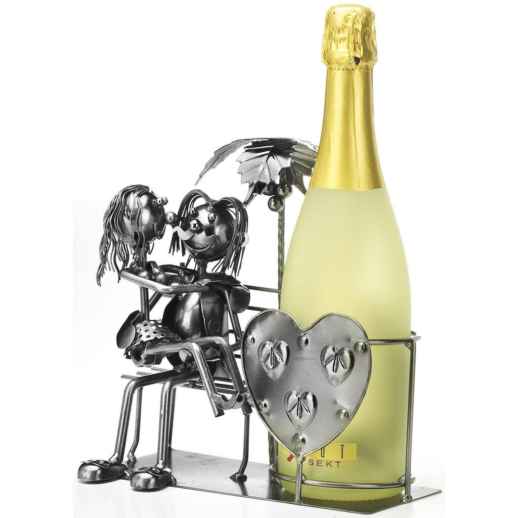 locker Weinflaschenhalter »Liebespaar«