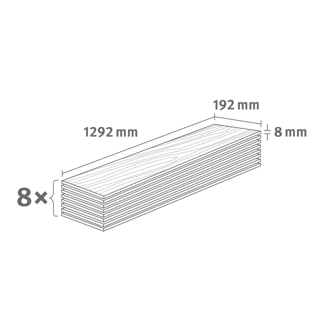 EGGER Laminat »HOME Livingston Eiche hell«, ohne Fuge, 1,985 m²/Pkt., Stärke:8 mm