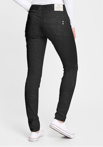 Herrlicher Slim-fit-Jeans »TOUCH SLIM SNAKE«, beschichtet in Lederoptik mit Snake-Druck kaufen