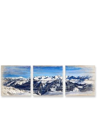 Wall-Art Mehrteilige Bilder »Alpenpanorama Natur Collage«, (Set, 3 St.) kaufen