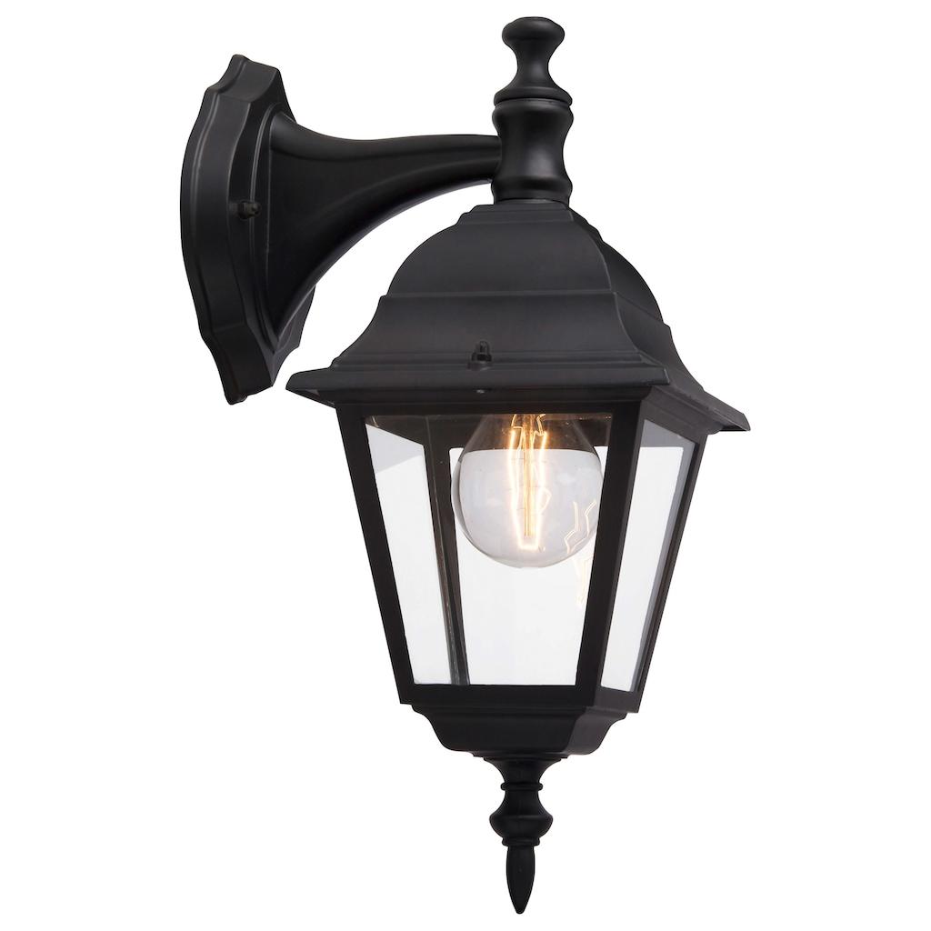 Brilliant Leuchten Außen-Wandleuchte, E27, Newport Außenwandleuchte hängend schwarz