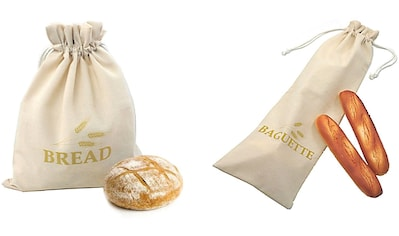 Think Kitchen Brottasche, (Set, 2 tlg.), 1 Baguettbeutel, 1 Brotbeutel kaufen