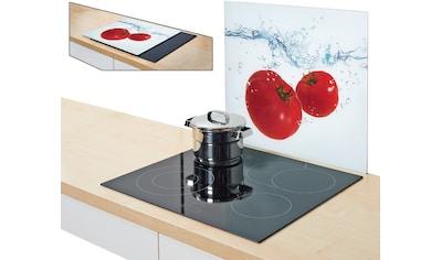 "Zeller Present Herdblende - /Abdeckplatte ""Tomato Splash"", Glas, (1 - tlg.) kaufen"